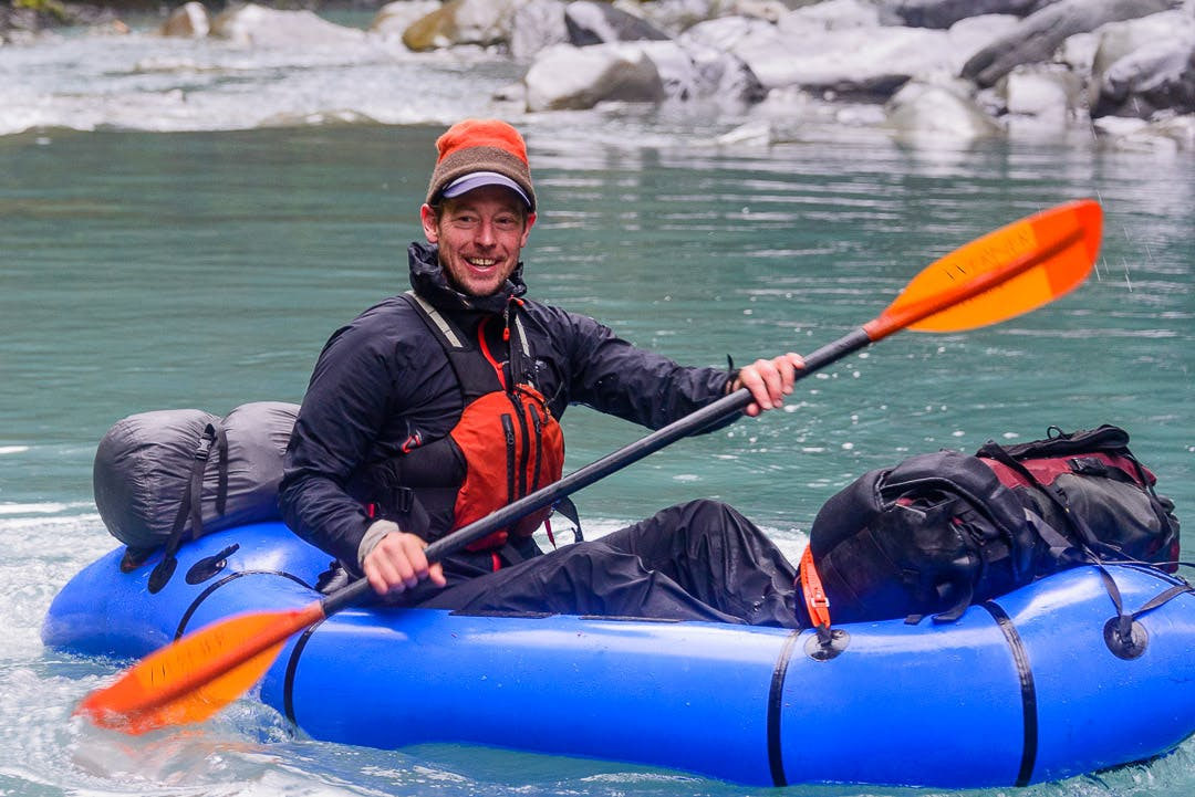 Queets River pack rafting. Photo: Benj Wadsworth