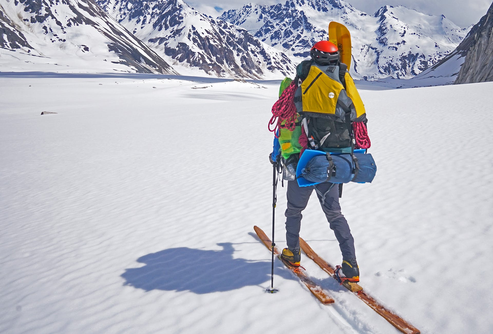 """""""We established a base camp and explored climbing routes on neighboring peaks, including two attempts on the NW Ridge of Citadel Peak, two new rock routes and an additional attempted route on Dogtooth Spire on Peak 7235."""""""