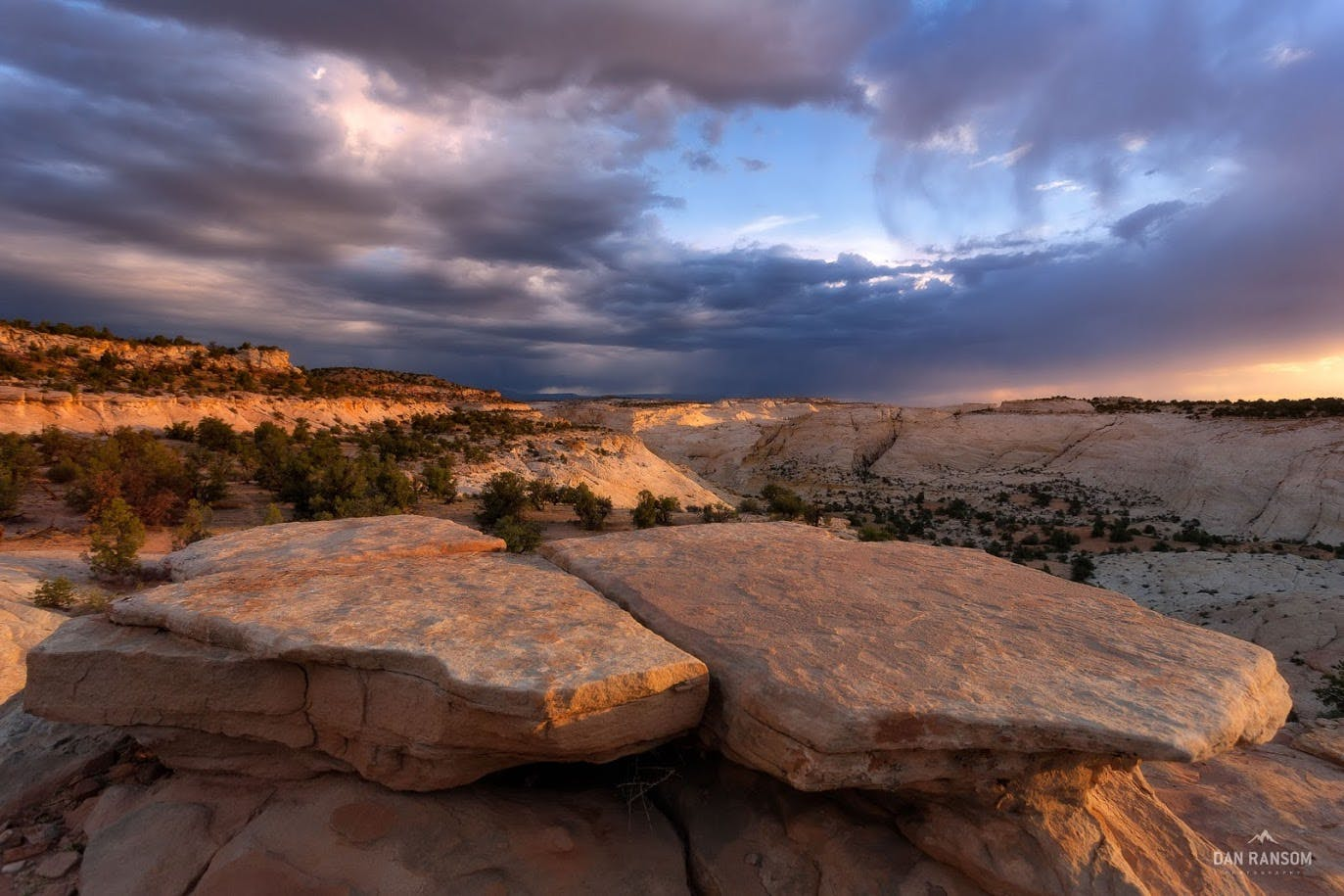Moody skies over the Escalante landscape.
