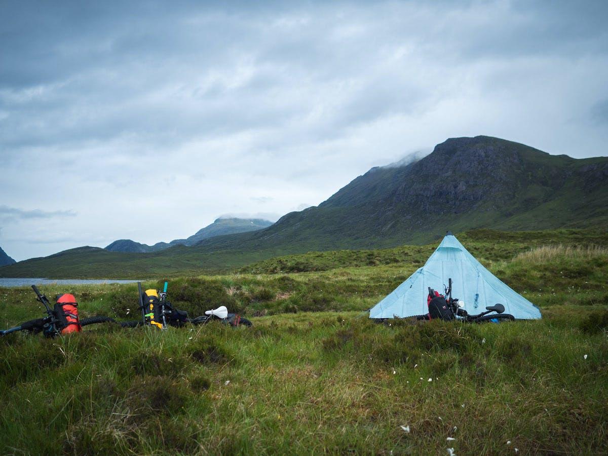 Scottish Highlands camp.