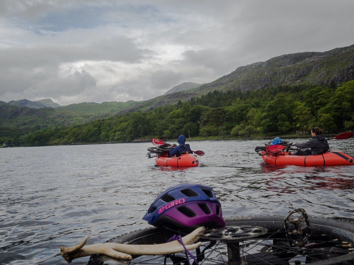 Using Alpacka's packrafts on Loch Maree in the storm.