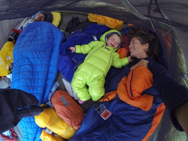 Family camping backcountry packrafting trip
