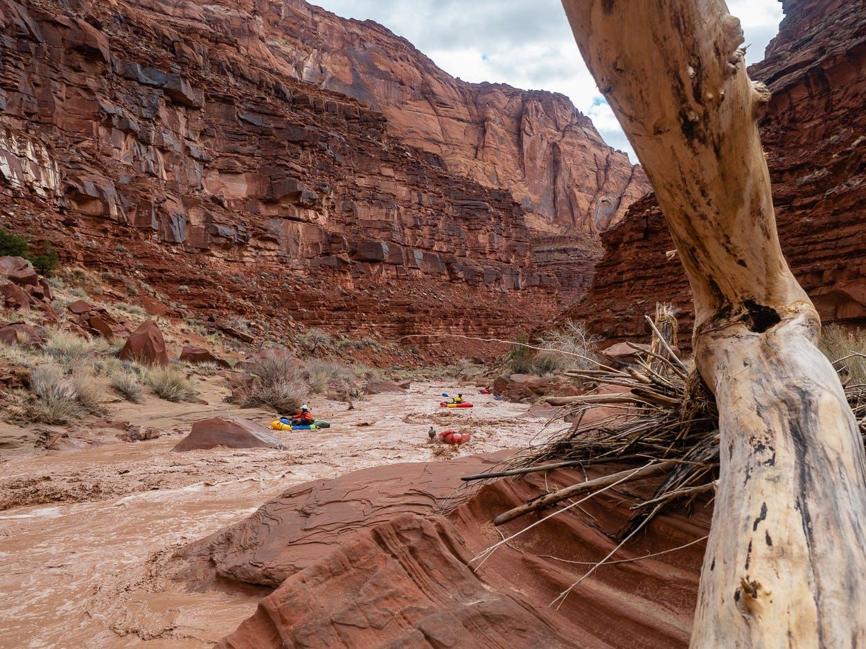 Desert packrafting
