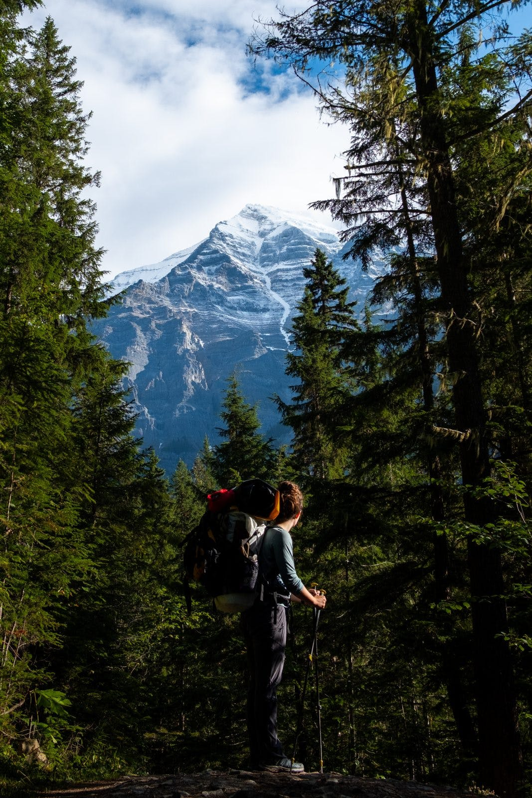 In the shadow of Mt. Robson - the highest peak in the Canadian Rockies at 3953m. Photo by Coburn Brown