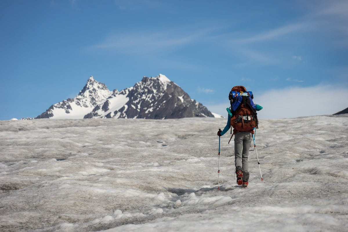 5 miles of ascending the low angle, easy going Frederika Glacier.