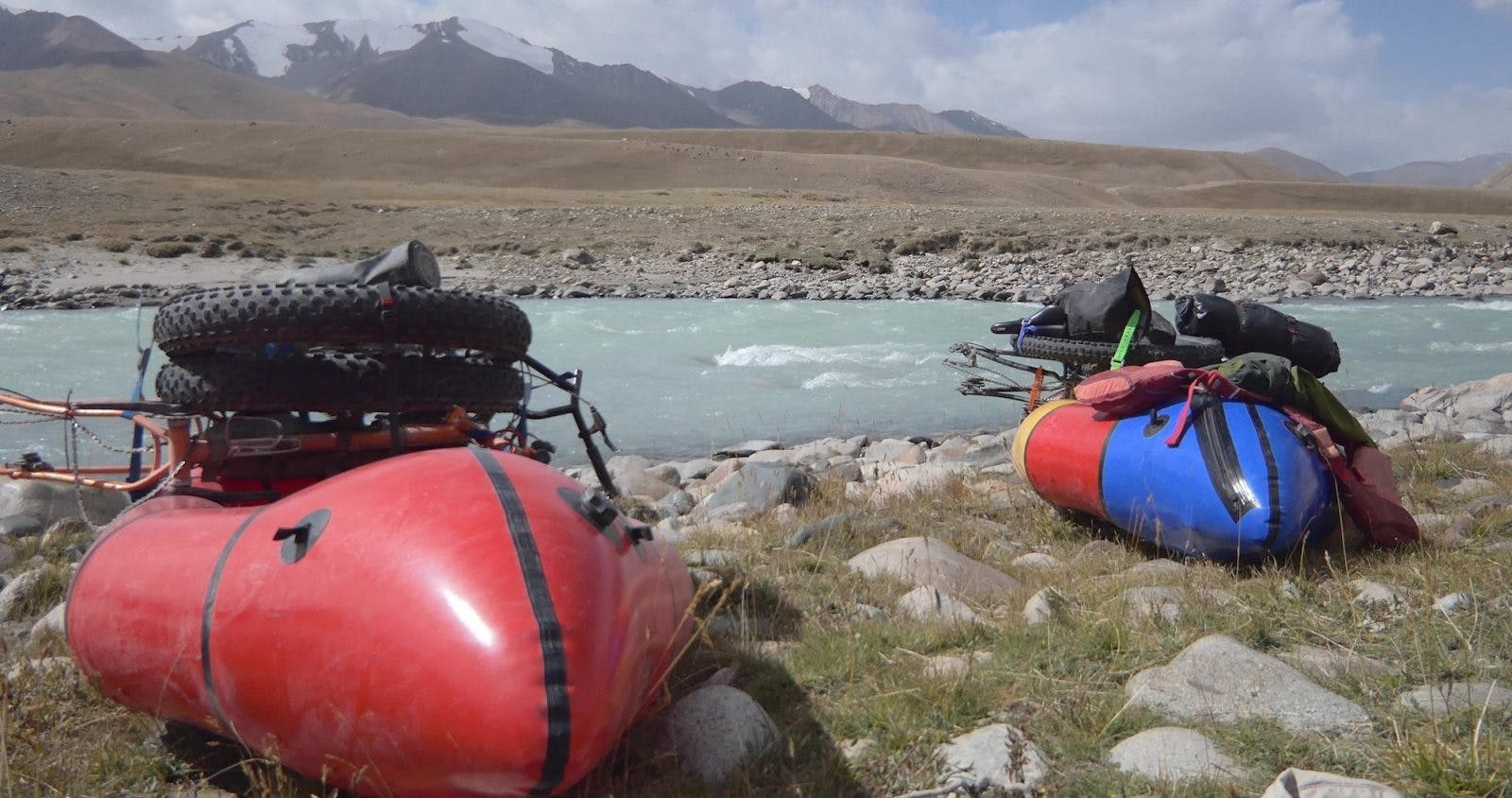 Kit Guncheon and Mike McGrath in Kyrgyzstan.