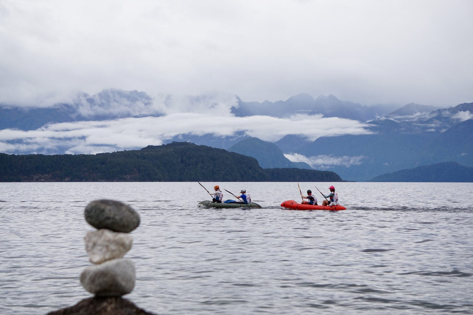 Paddling on Lake Te Anau
