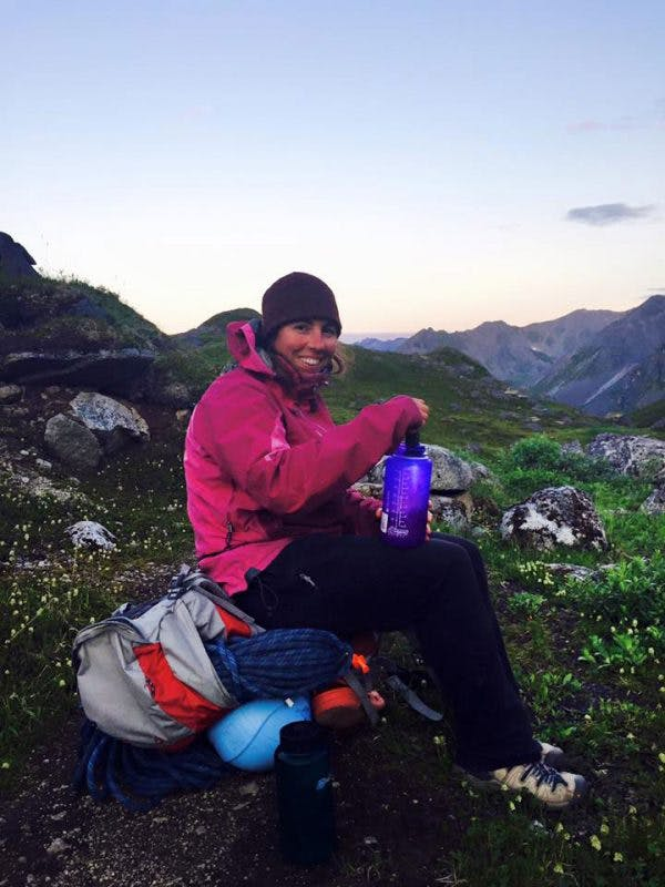 Monica Morin on Hatcher's Pass. Monica will present various packrafting safety courses in Alaska this summer.