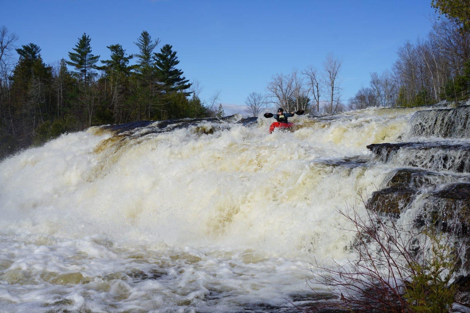 Alex running the Saranach River.