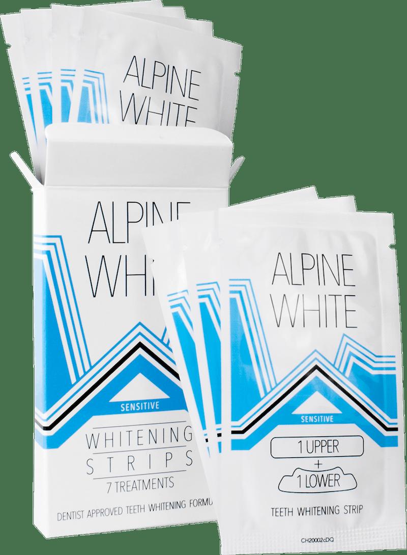 Alpine White Whitening Strips Sensitive Mood