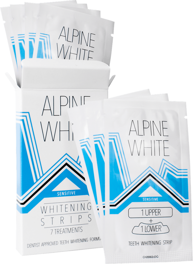 Alpine White Whitening Strips Sensitive Mood