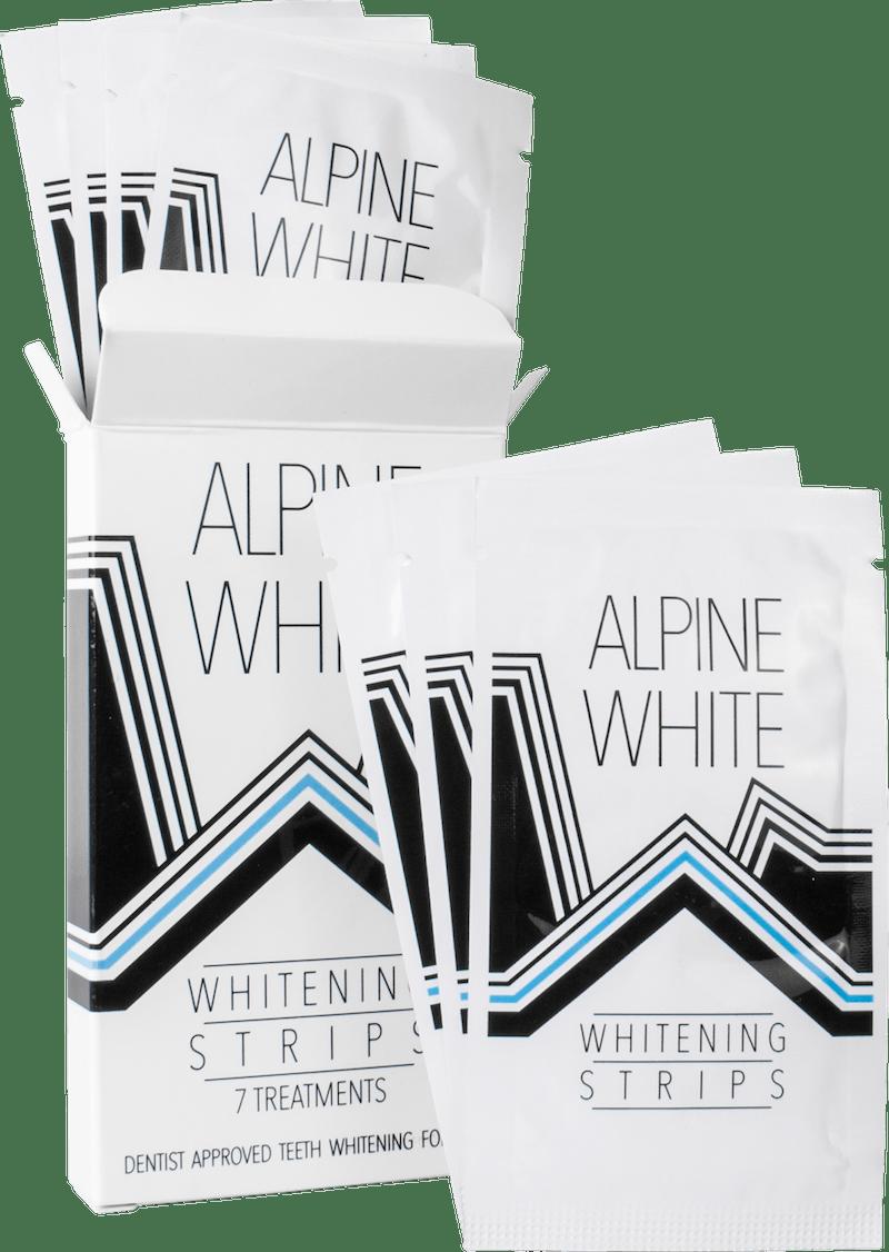 Alpine White Whitening Strips Product Shot