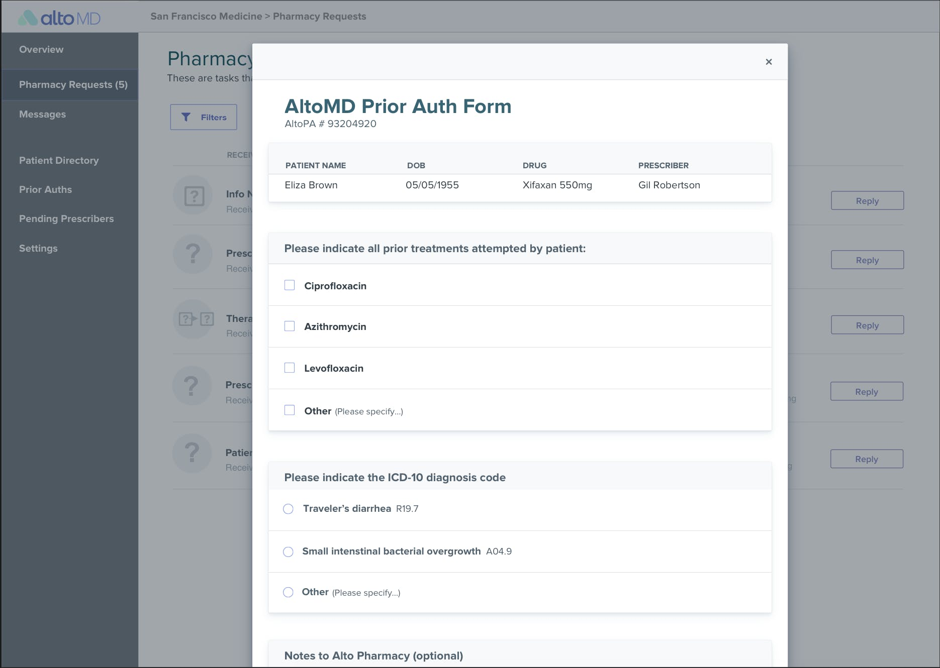 Alto processes prior authorizations for free and makes it easy to provide information
