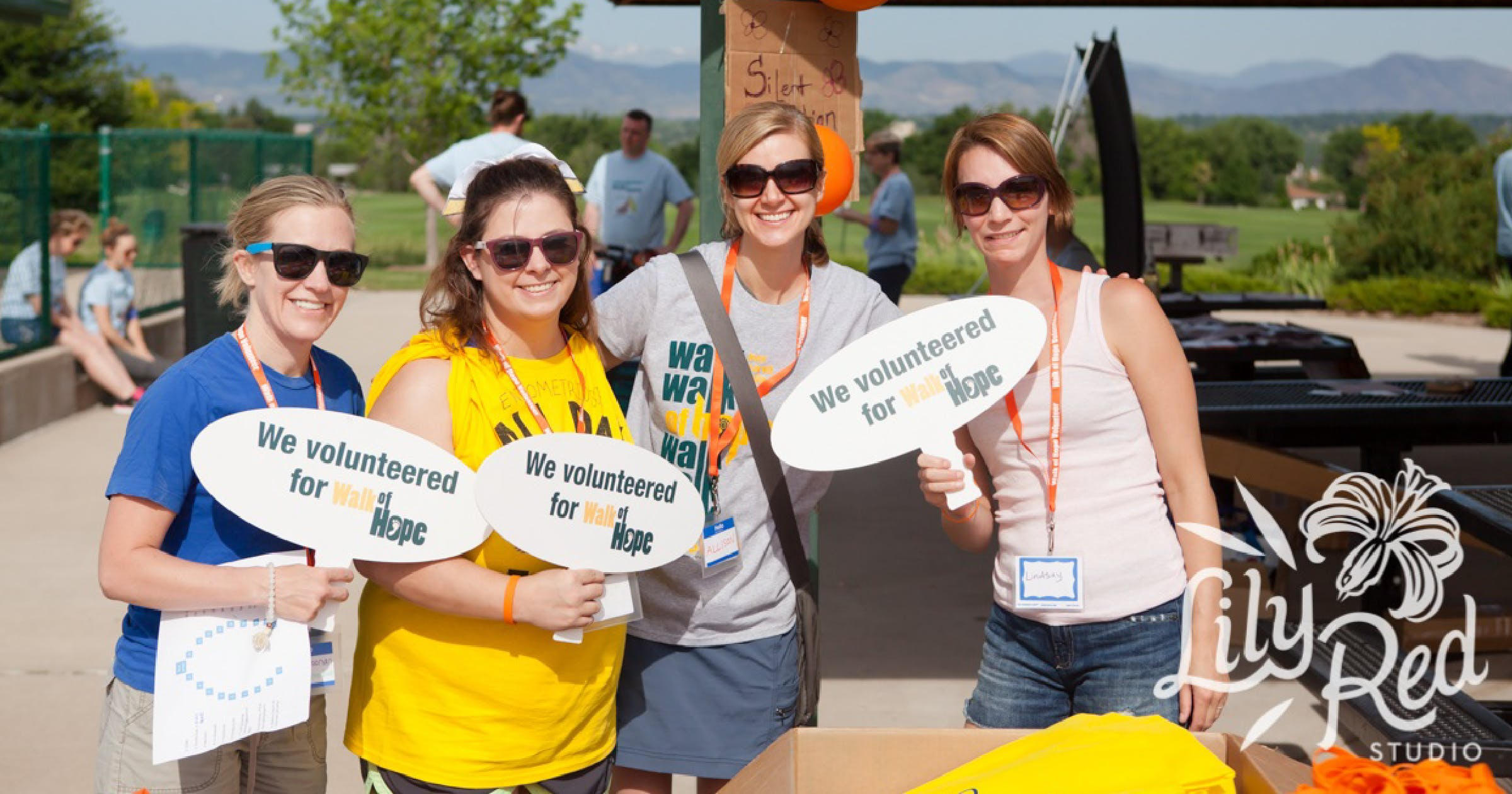 Photo courtesy of RESOLVE: volunteers at RESOLVE community event