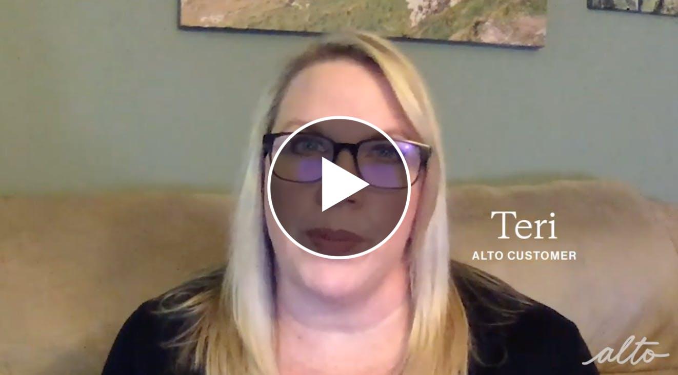 Teri's alto patient story