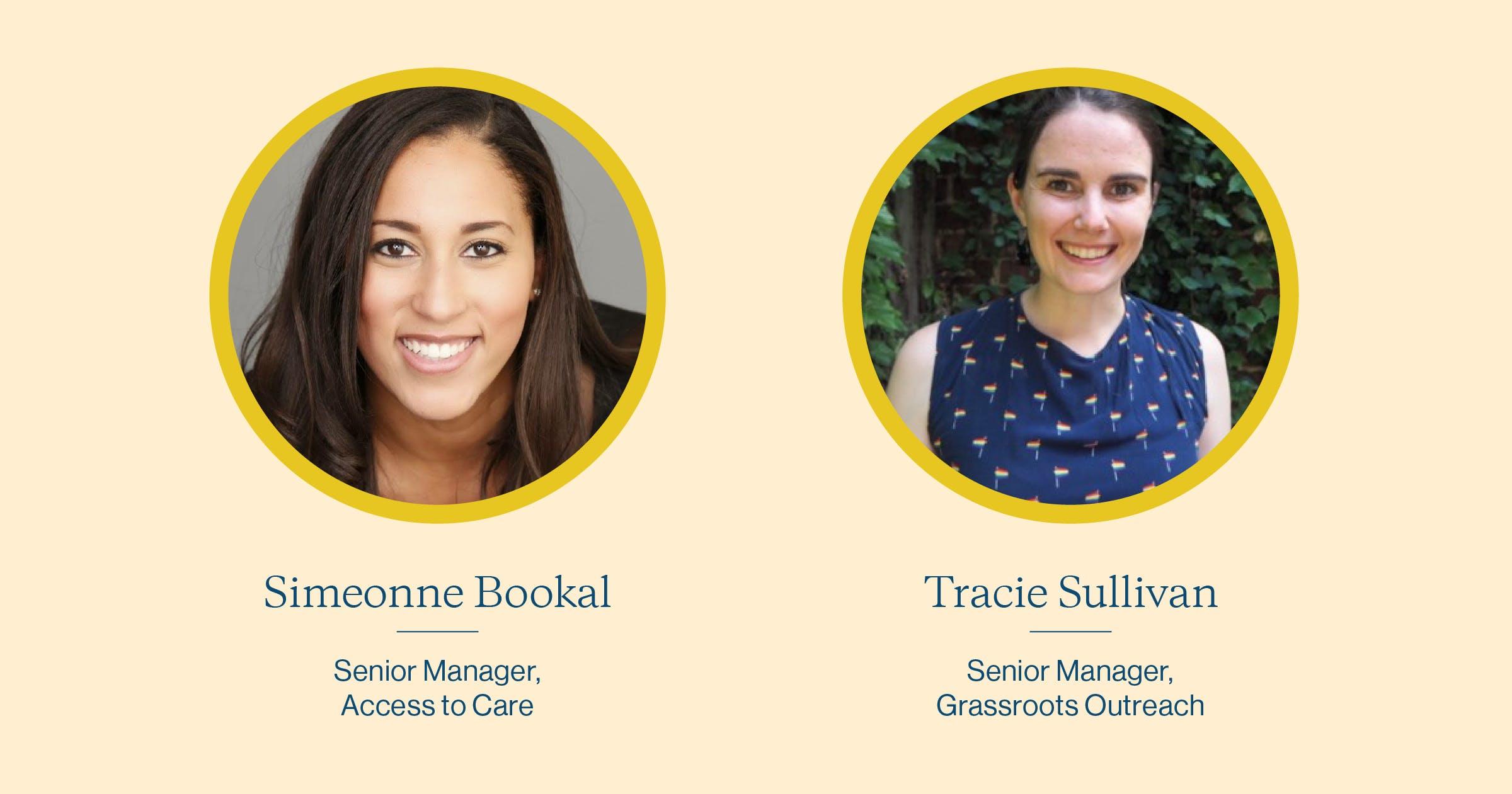 Simeonne Bookal and Tracie Sullivan