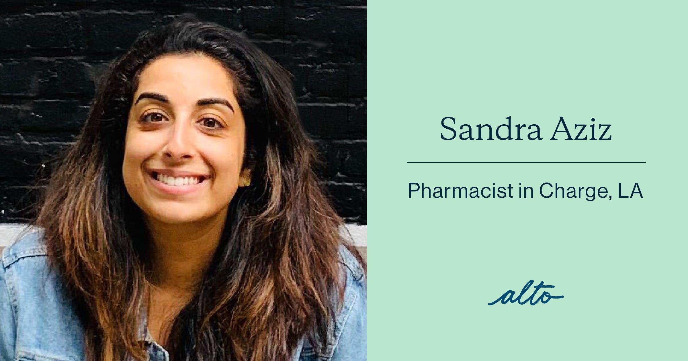 Sandra Aziz, Alto Pharmacist