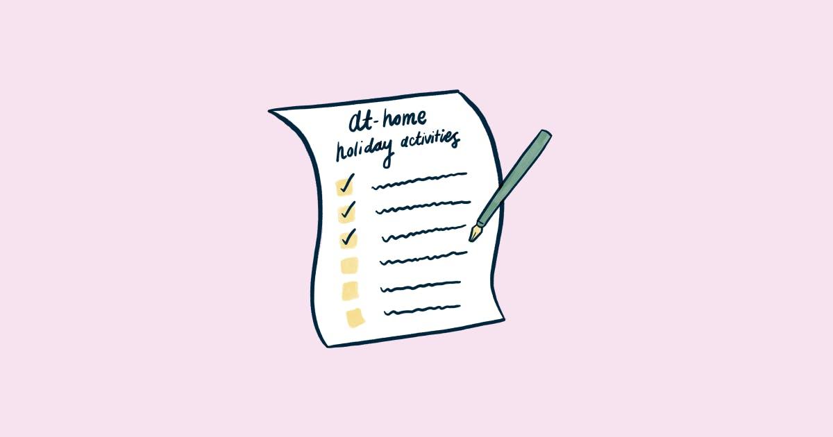 Holidays at home checklist