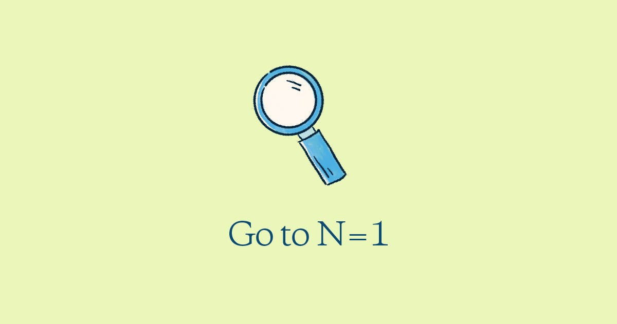 Go to N=1