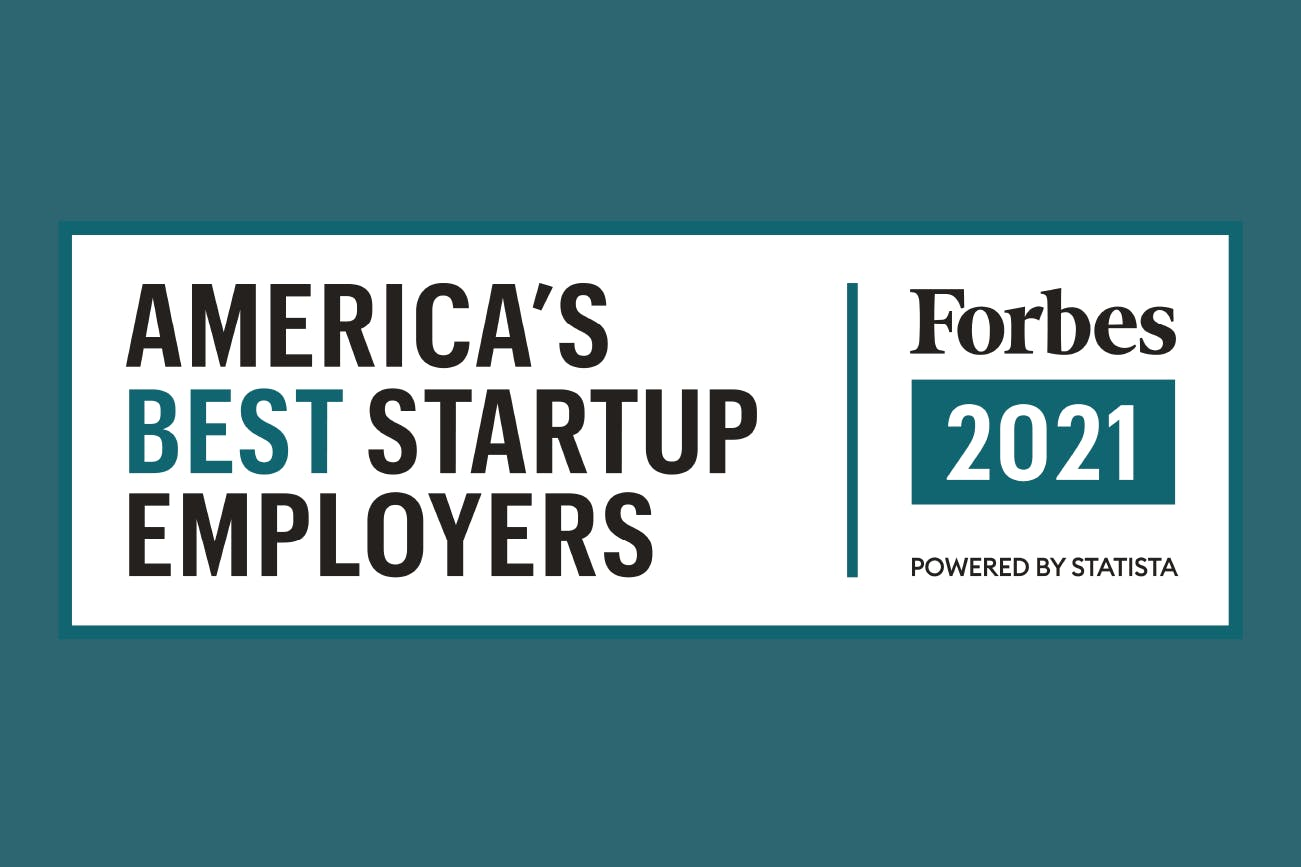 Forbes 2021 America's best startup employers