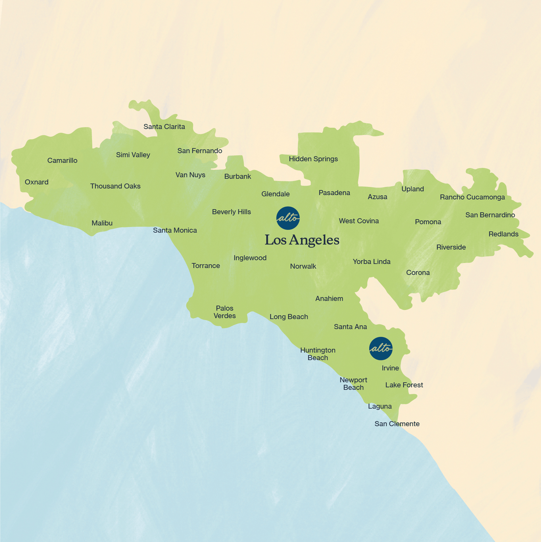 Los Angeles and Orange County