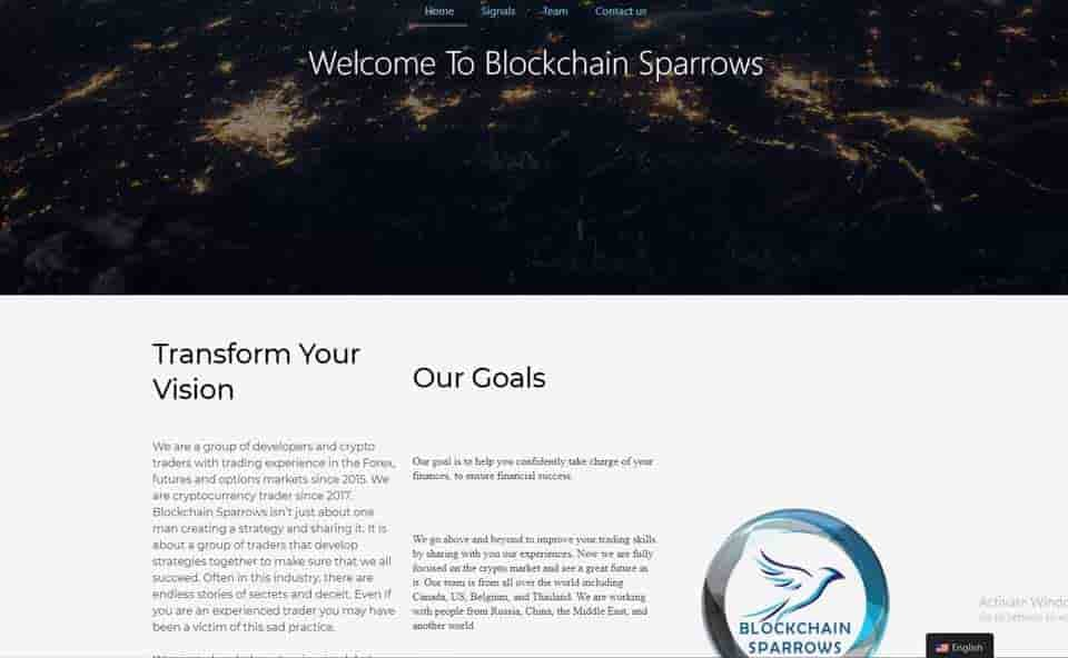 blockchain sparrow signals