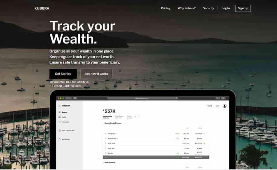 Kubera crypto portfolio management