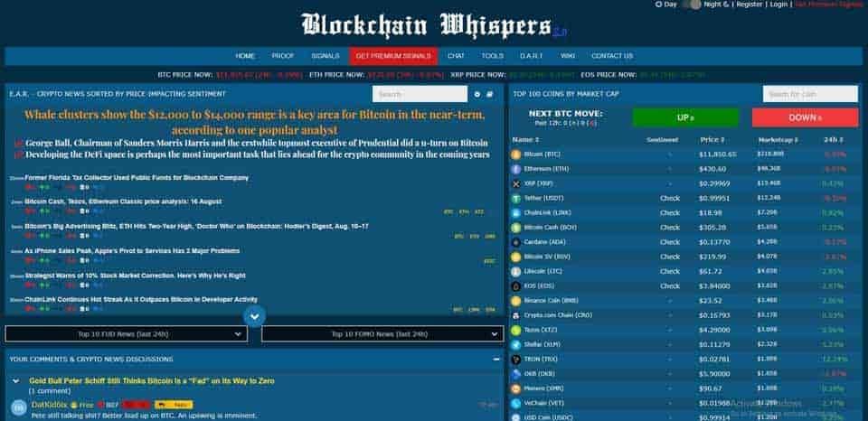 blockchain whispers signals