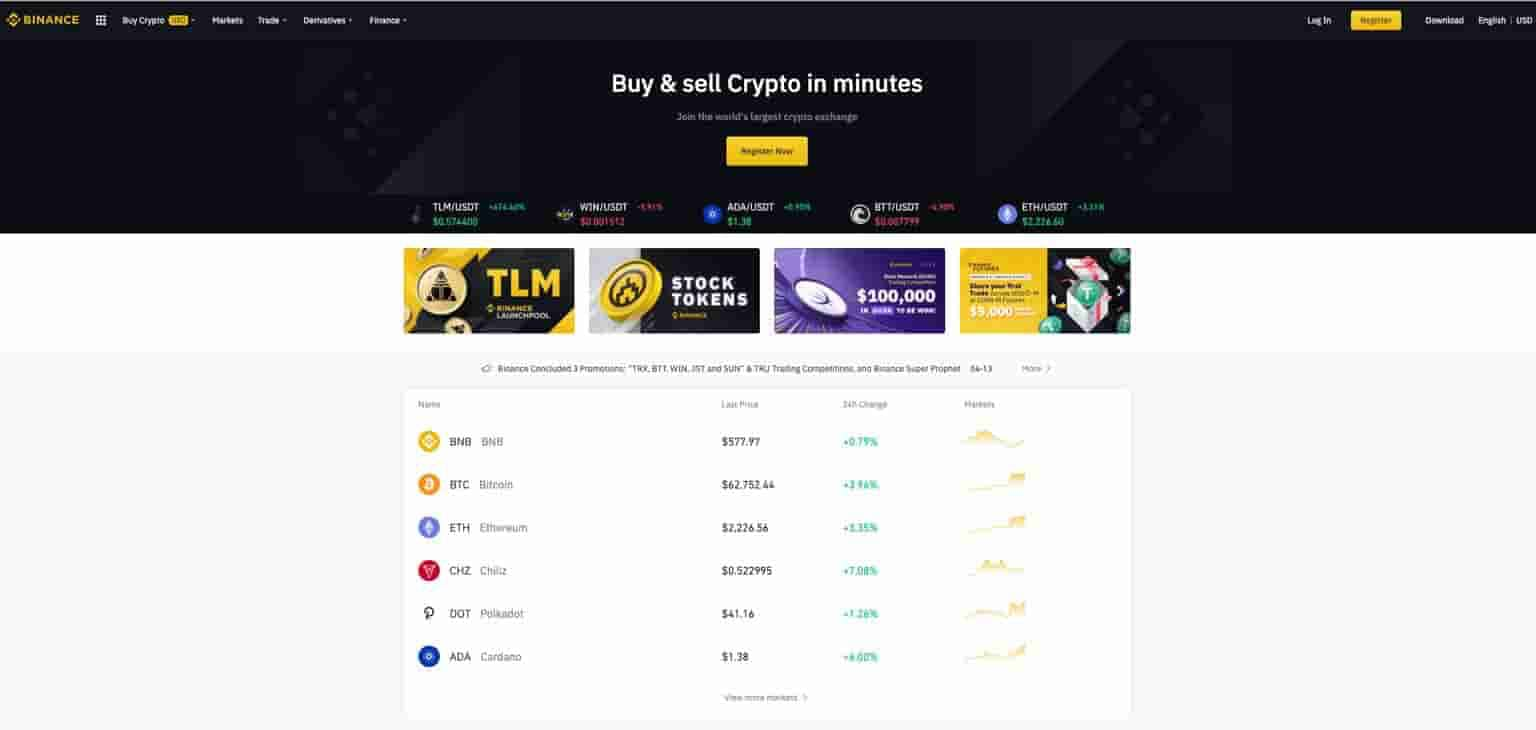 binance crypto trading software