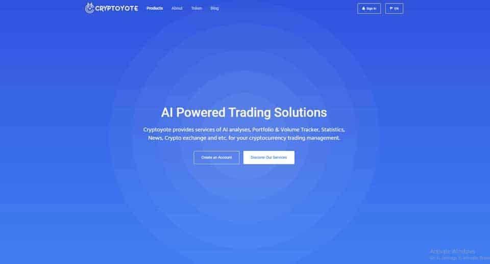 Cryptoyote AI portfolio tracking