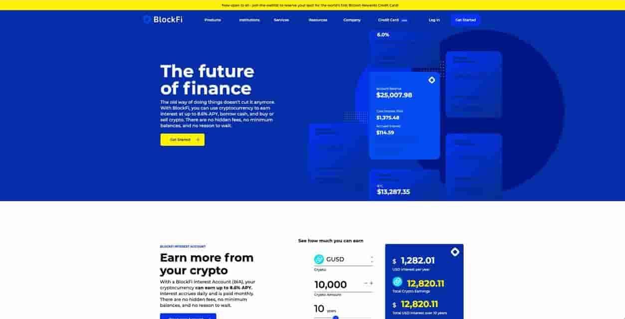 best crypto interest account