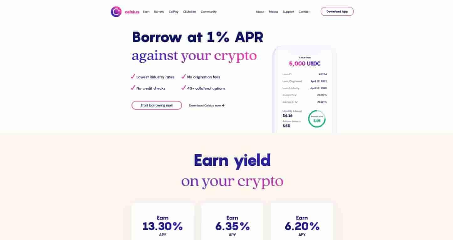 celsius bitcoin interest account