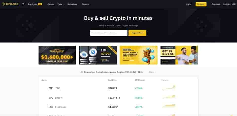 binance trading exchange