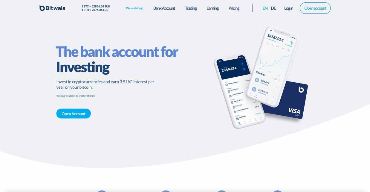 Bitwala best cryptocurrency bank