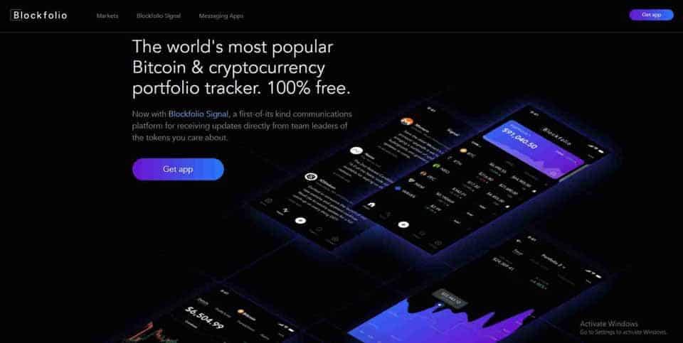 Blockfolio crypto tracker