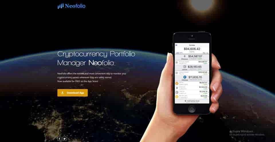 Neofolio cryptocurency portfolio management