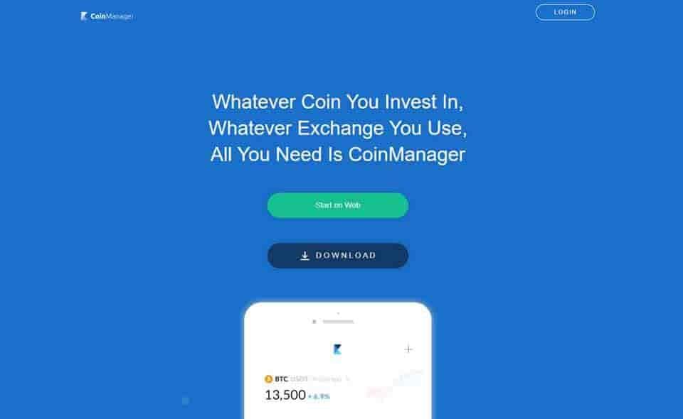 CoinManager crypto portfolio