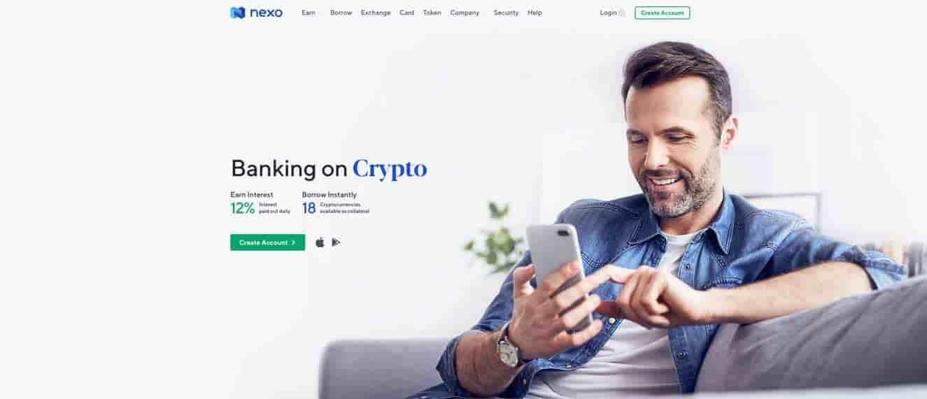 Nexo crypto savings account
