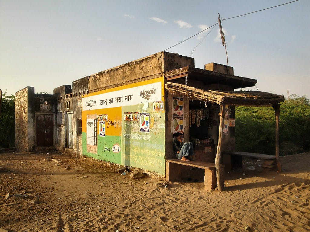 Village store in India