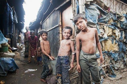 Children living in slums