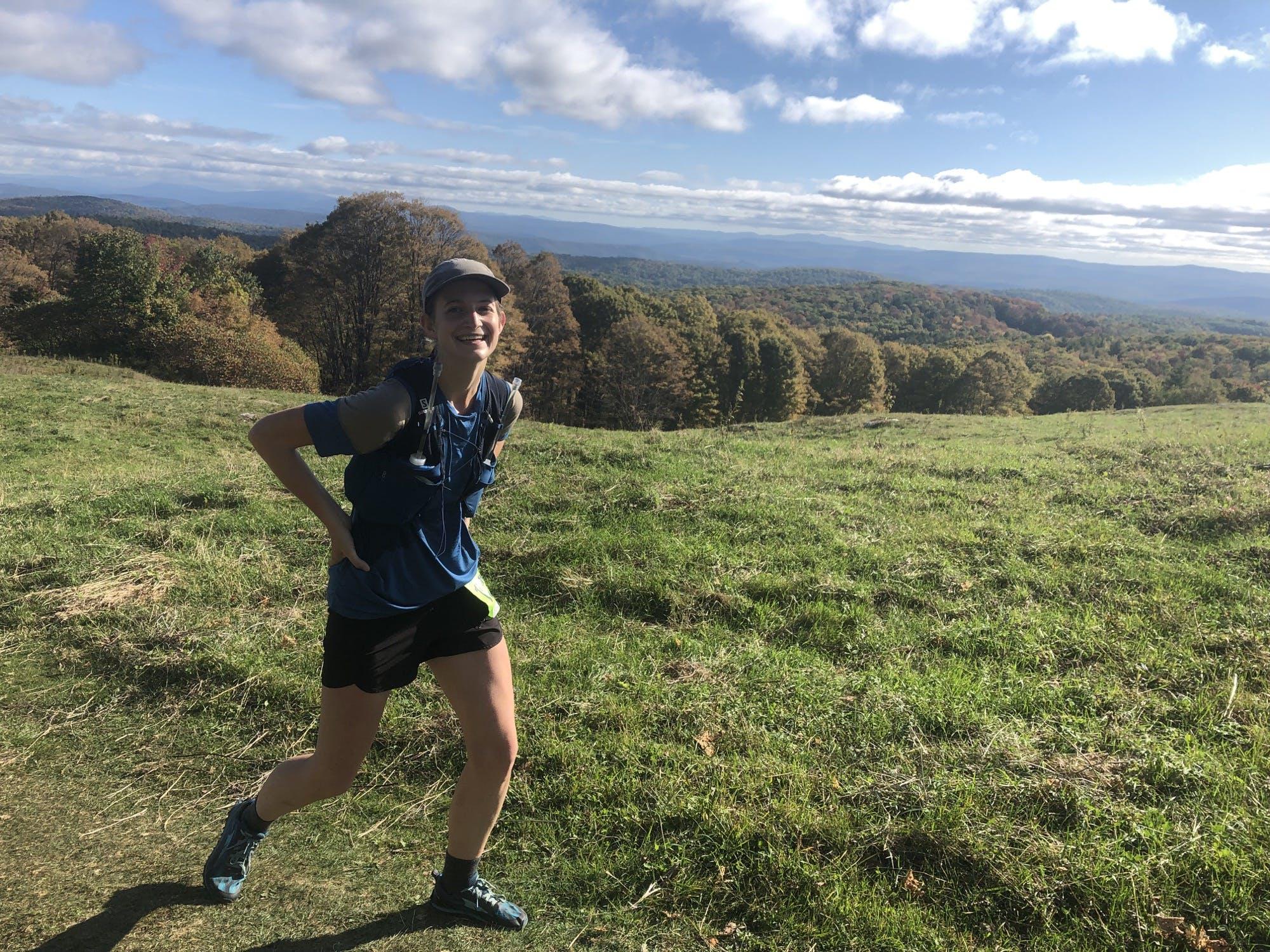 Climbing Garvin Hill. Photo: Leah Todd