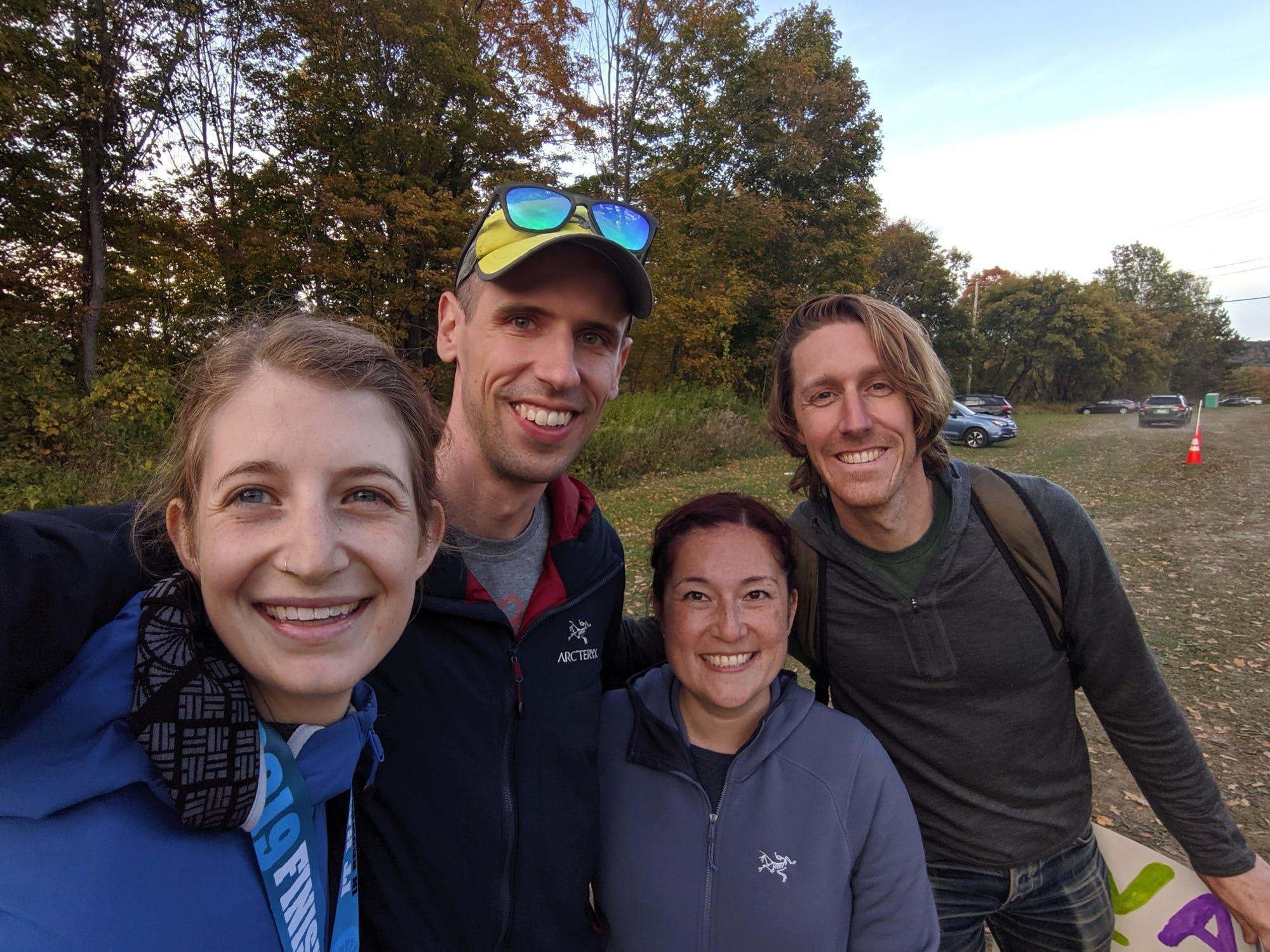 Me, Doug, Irene, and Cody. The best crew! Photo: Doug Lipinski