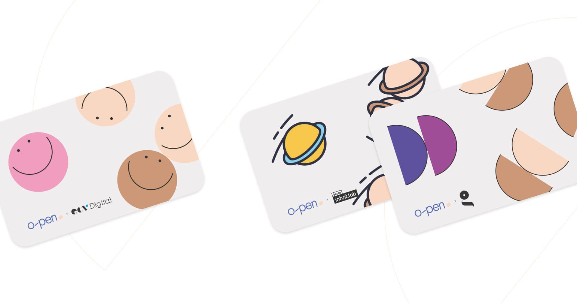 Selection of student cards with different patterns on