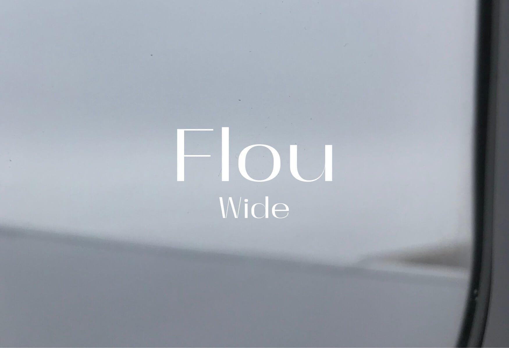 Logotype Flou Wide
