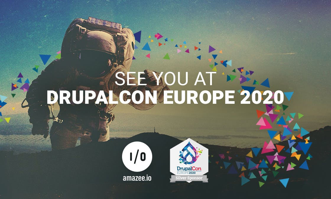 See You at DrupalCon Europe 2020. amazee.io silver sponsor