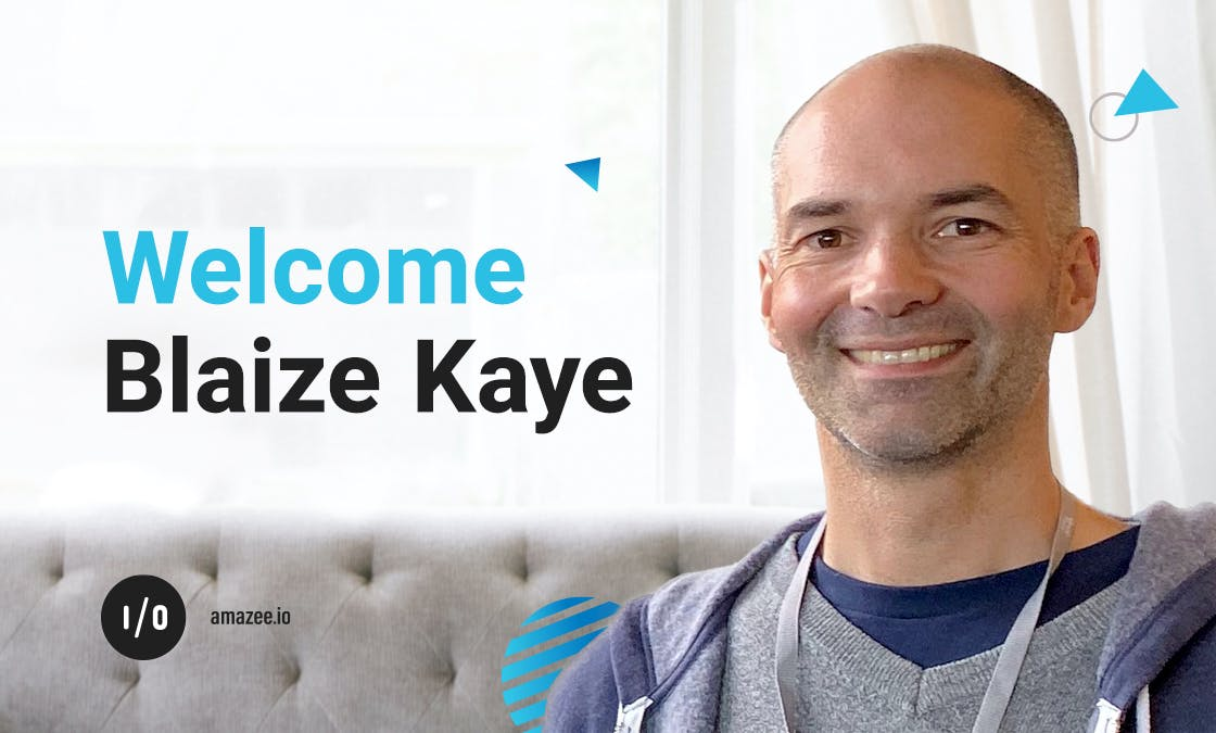 Welcome, Blaize Kaye to amazee.io
