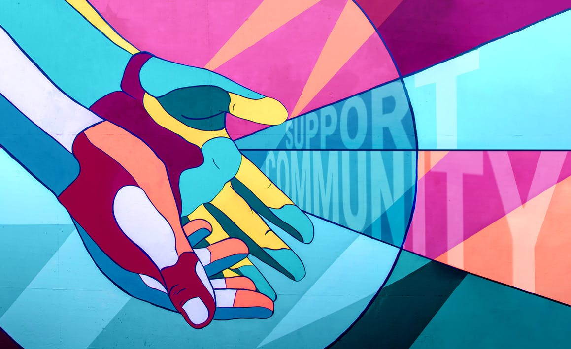 Supporting community graphic