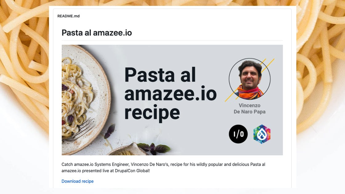 Pasta al amazee.io at DrupalCon Global