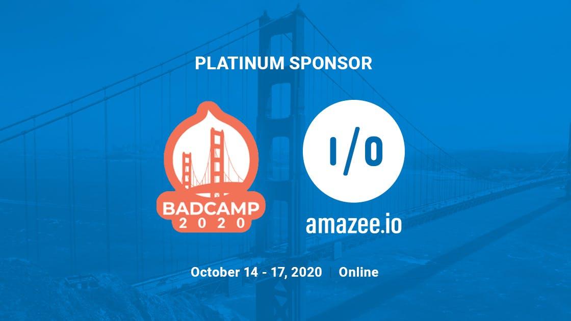 amazee.io is proud to be a platinum sponsor of BADCamp 2020