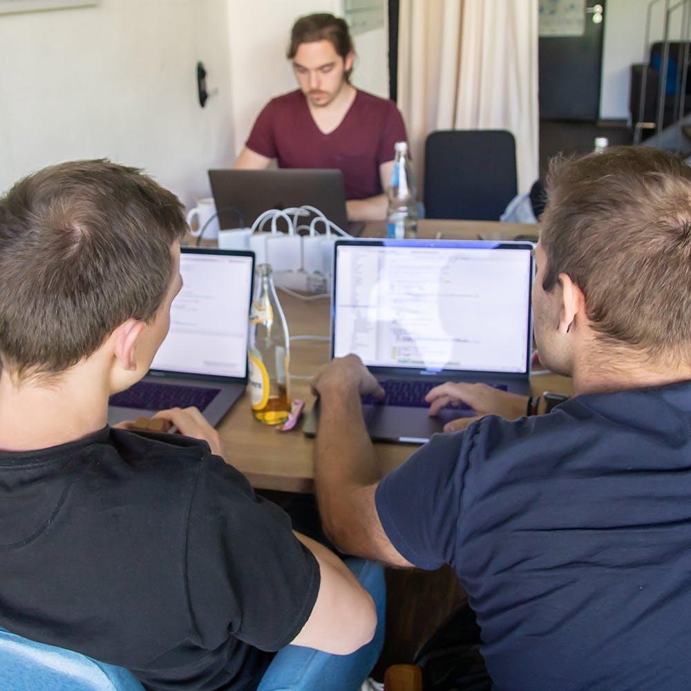 Team am Arbeiten